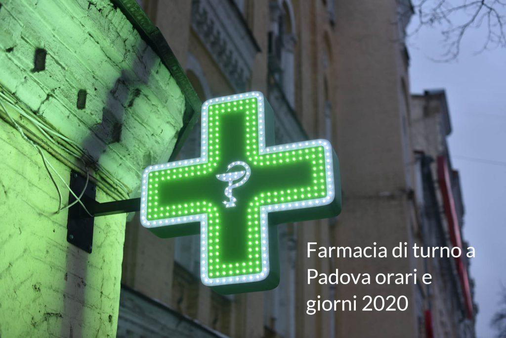 Farmacie di turno Padova 2020