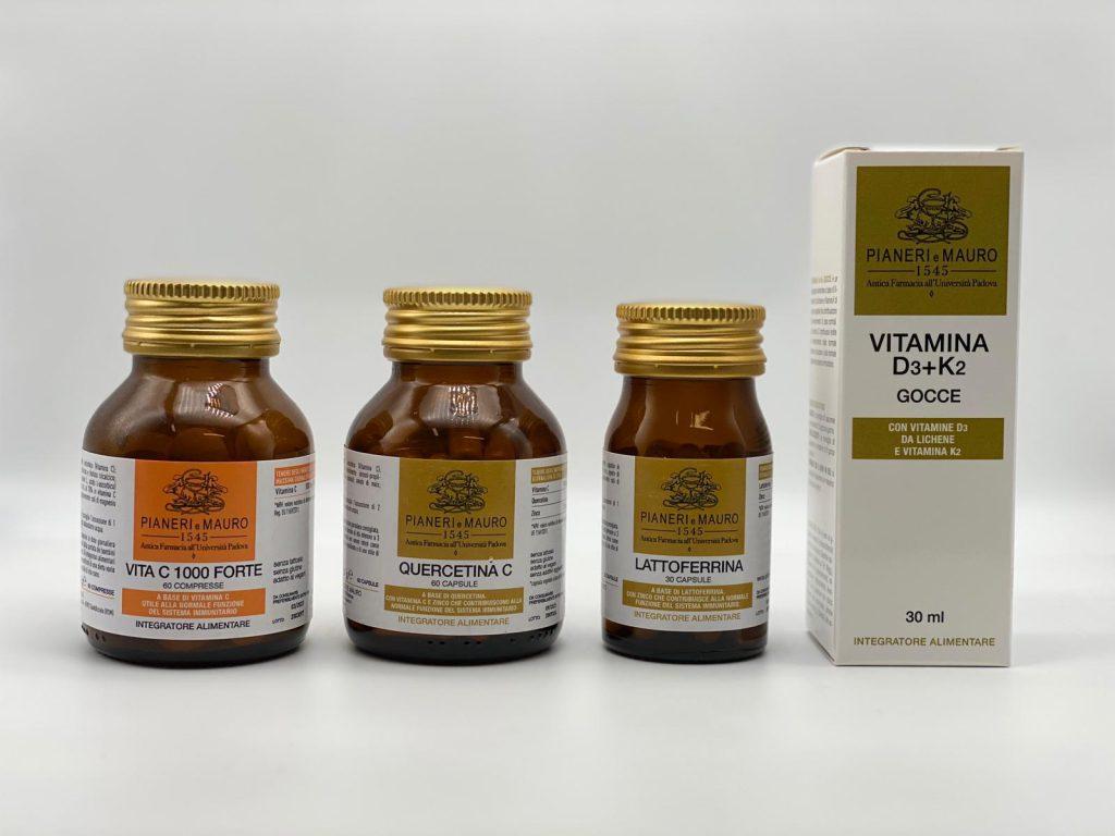Rinforzare le difese immunitarie integratore Vitamina C 1000 Forte Quercetina C Lattoferrina